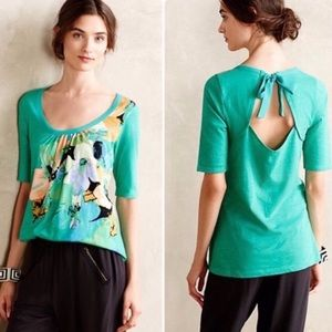 Anthropologie Tops - AKEMI + KIN Anthro Brilliant Bowknot Floral Blouse